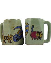 Cats Square Stoneware Mug by