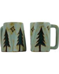 Pine Trees Square Stoneware Mug by