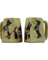 Dogs Square Stoneware Mug by