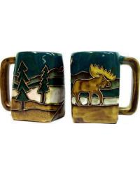 Moose Square Stoneware Mug by