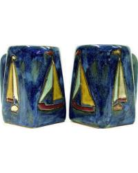 Sail Boats Square Stoneware Mug by