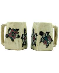 Desert Turtle Square Stoneware Mug by