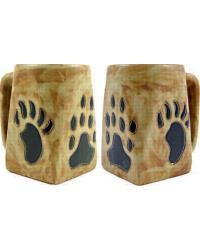 Bear Wolf Paws Square Stoneware Mug by