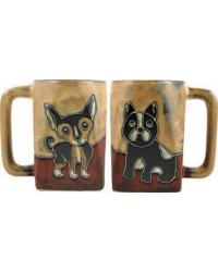 Puppies Square Stoneware Mug by