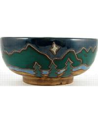 Mountains and Trees Serving Bowl by