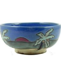 Palm Trees Beach Serving Bowl by