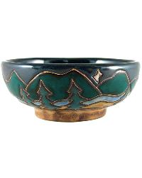 Mountains and Trees Small Serving Bowl by