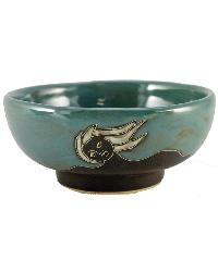 Faces Abstract Slate Small Serving Bowl by