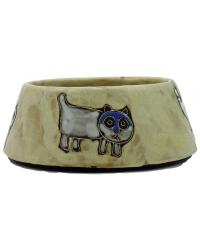 Cats Brown Medium Cat Dish by