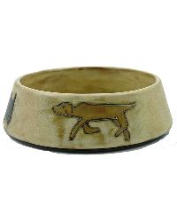 SMALL Dog Dish - Brown by