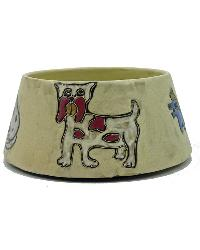 X-LARGE Dog Dish - Brown by
