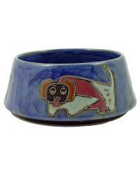 LARGE Dog Dish - Blue by