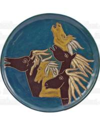 12in Dinner Plate - Horses by