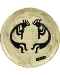 12in Dinner Plate - Dueling Kokopellis by