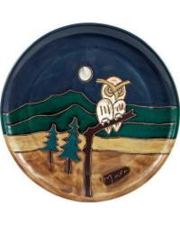 12in Dinner Plate - Owl by