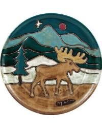 12in Dinner Plate - Moose by