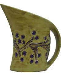32 oz. Curved Pitcher - Grape Vines by