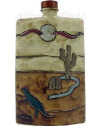 44 oz. Rectangular Decanter - Desert Scene by