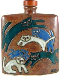 24 oz. Square Decanter - Kitties by