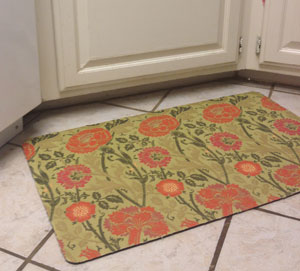 Recover a rug with fabric - Make a Custom Fabric Rug or Floor Mat