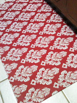 How To Make A Custom Fabric Rug Diy Projects Step By