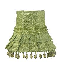 Chandelier Shade - Skirt Dangle - Green by