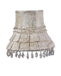 Chandelier Shade - Skirt Dangle - Ivory by