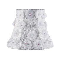 Chandelier Shade - Petal Flower - White by