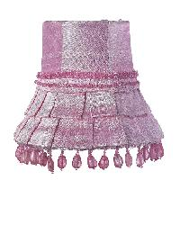 Chandelier Shade - Skirt Dangle - Pink by