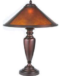 Van Erp Amber Mica Table Lamp by