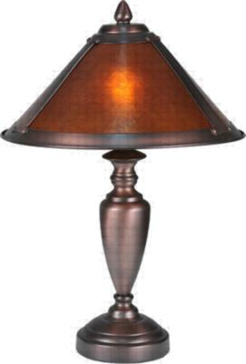 Meyda Tiffany Van Erp Amber Mica Accent Lamp Amber Arts and Crafts