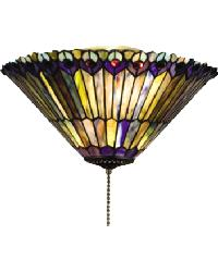 Jeweled Peacock Flush Mount by