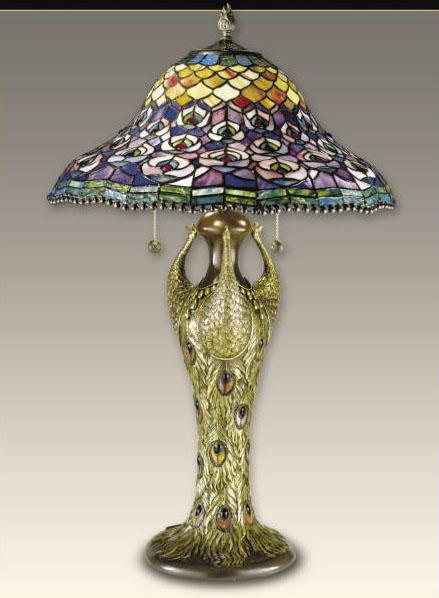 Peacock Tiffany Table Lamp Lamps