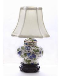 Blue/Green Porcelain Jar Lamp by