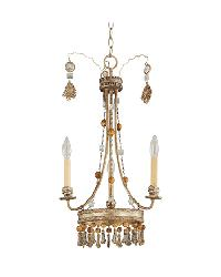 Bon Vivant Three Arm Chandelier by
