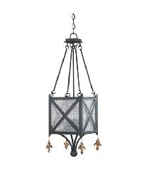 Black Gatetop Lantern by