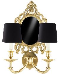 Narcissus II Traditional Sconce Light w/Mirror by