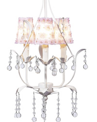 Petal Flower Sconce Shade on Pear Chandelier - White/Pink by