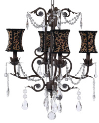 Hourglass Chandelier Shade on Valentino Chandelier - Mocha by