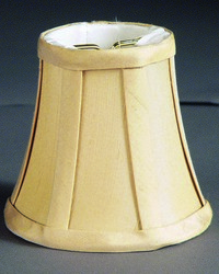 Pure Silk Dupioni Buttercup 6in Chandelier Shade by