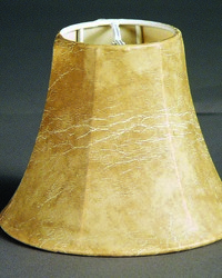 Faux Animal Hide No Lining Parchment 6in Chandelier Shade by
