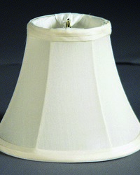 Pure Silk Pongee Egg 6in Chandelier Shade by