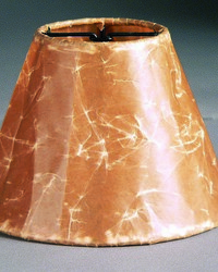 Crincle Paper Brown 6in Chandelier Shade by
