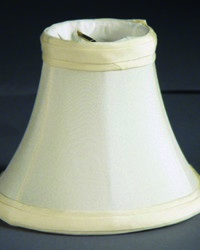 Pure Silk Shantung Oyster 4in Chandelier Shade by