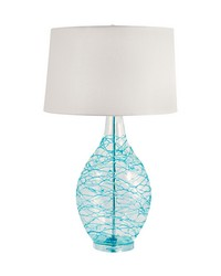 Blue Glass Coils Table Lamp by