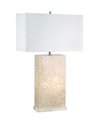 Cream River Rock Table Lamp by