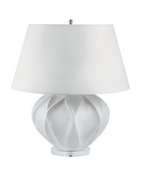 White Bisque Lotus Table Lamp by