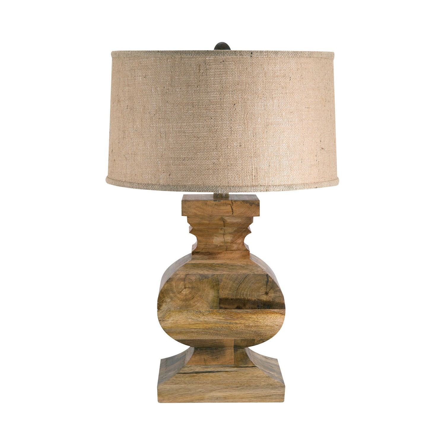 solid wood curved block table lamp interiordecorating. Black Bedroom Furniture Sets. Home Design Ideas
