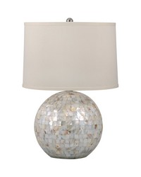 Mother of Pearl Orb Table Lamp by