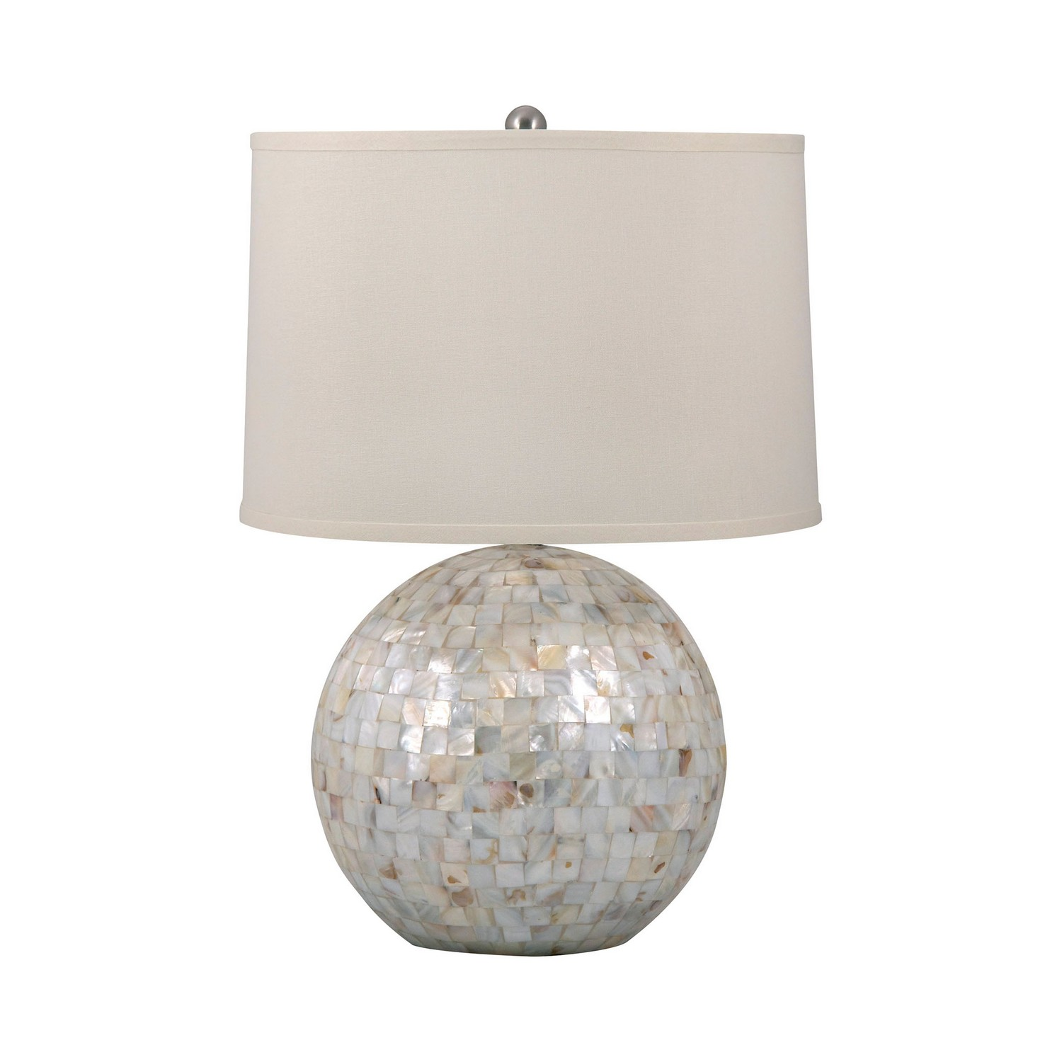 Mother Of Pearl Orb Table Lamp